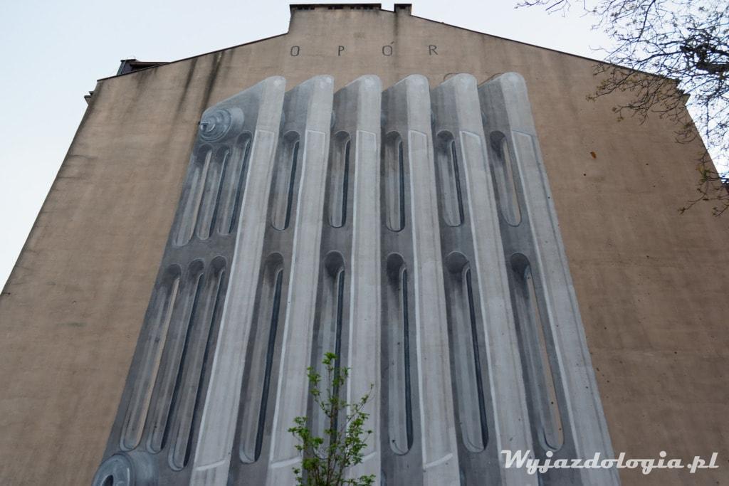 Wielki Grzejnik na Pradze Północ mural