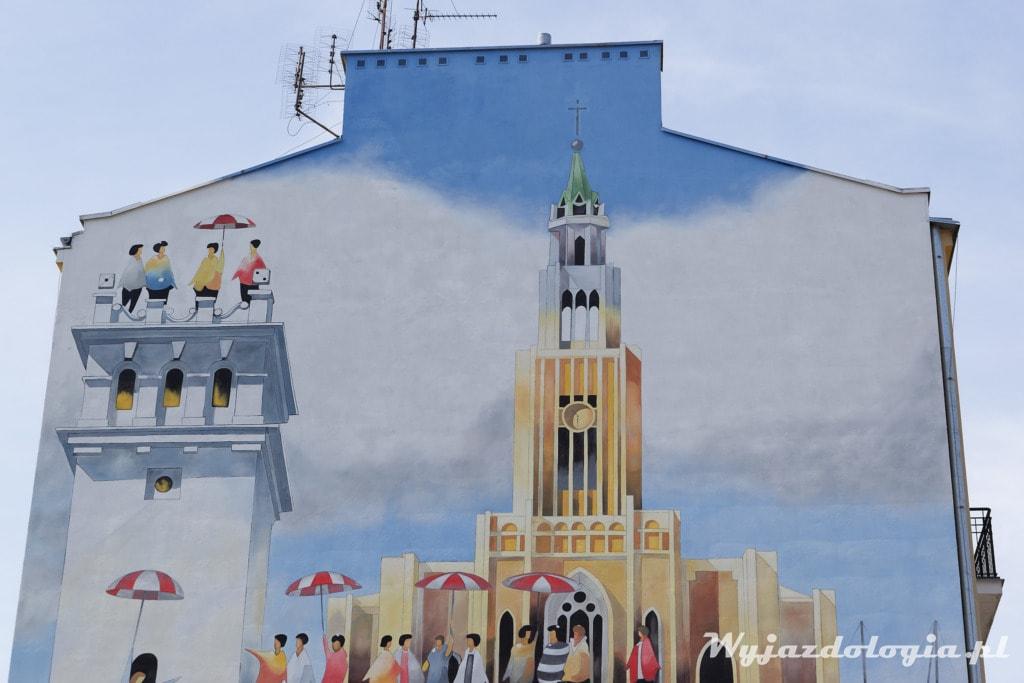 Warszawa Murale na prawym brzegu Wisły