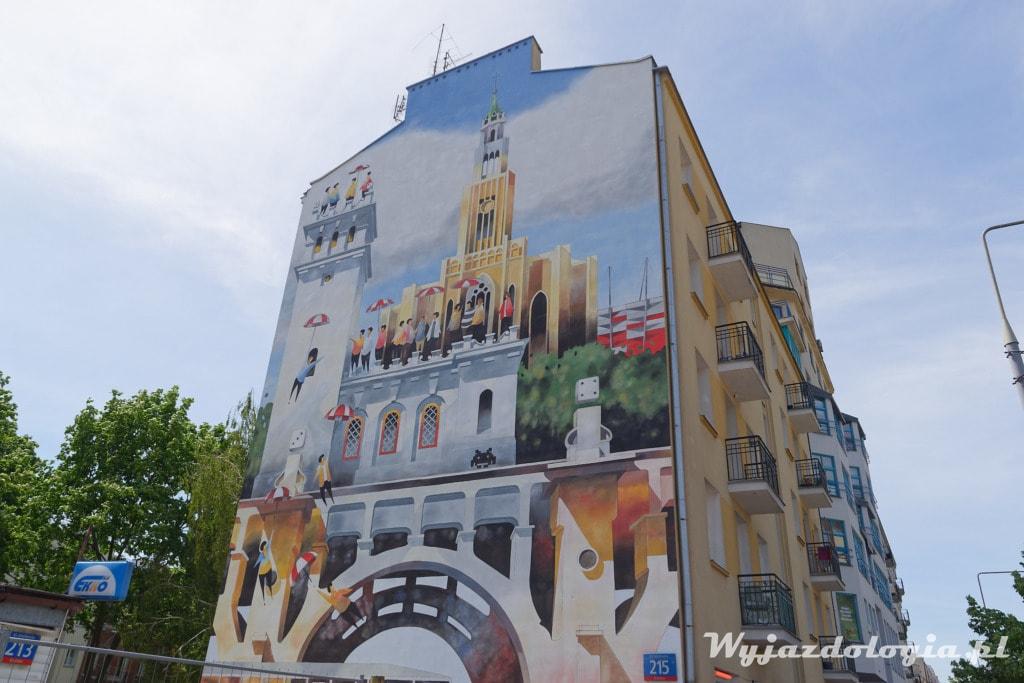 Mural Tytus Brzozowski Rondo Wiatraczna