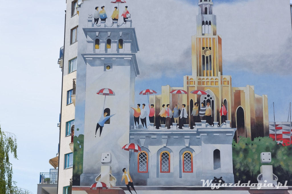 Tytus Brzozowski Mural po prawej stronie Wisły