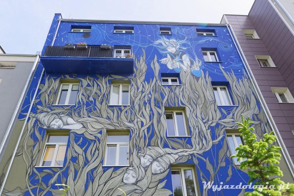 Mural Siewca Snów prawy brzeg Wisły Warszawa