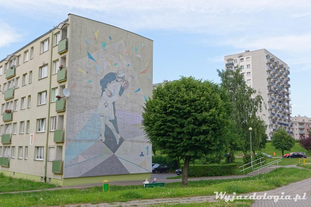 Tczew Mural Pocałuenk Alfred Eisenstaedt
