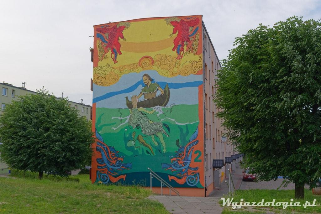 Tczew Mural Jasna i Dersław