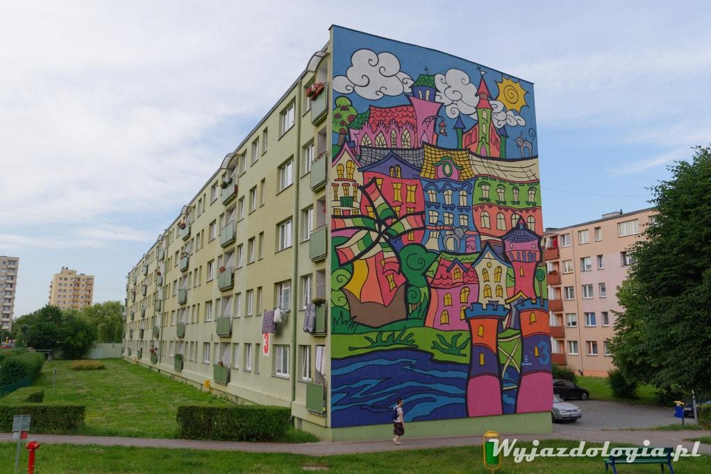 Tczew Mural Kolorowe Kamieniczki
